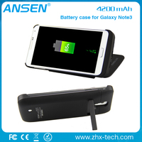 wholesale new design wireless universal portable battery backup charger case and usb for samsung note3