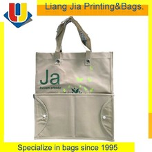 Alibaba China Non Woven Fodable Shopper Tote Bag With Hard Bottom Insert Handbag Manufacturers
