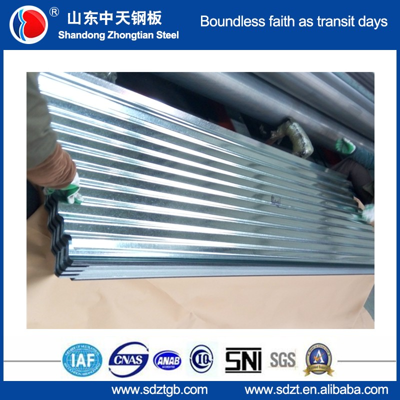 galvanized /prepainted galvalume color coated corrugated roofing sheet Trapezoidal /wave tile