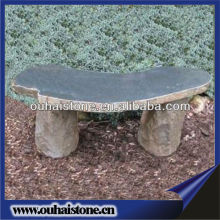 Mini Park Stone Bench Curved Pebble Bench