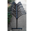 Semi-Vertical Bike Parking Rack Bicycle Storage Display Stand