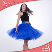 Wholesale elastic waist 5 layers of women tulle skirt fashion party pleated skirt