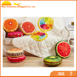 Fruit printed plush pillow and quilt dual purpose air conditioning blanket bed cushion