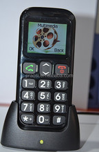 cheap old people cell phone with sos button / cradle charger / docking station