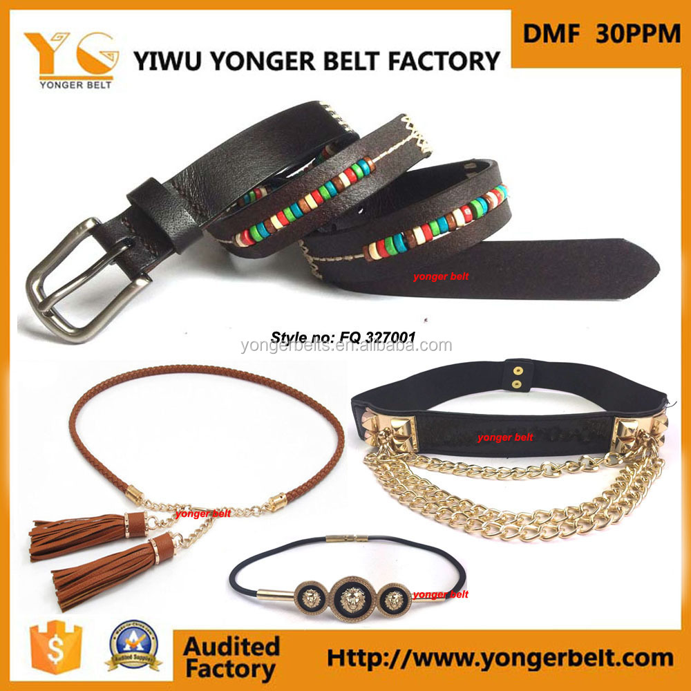 Fashion belt factory hot sale PU belts ladies dressy fancy customized belt for ladies