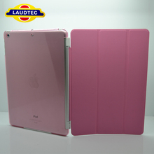 For IPad 5 Cover,For IPad 5 Smart Cover,Magnetic Leather Cover for IPad 5 With Transparent PC Cover