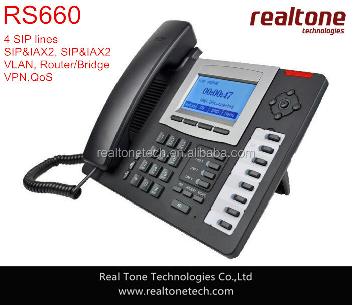4 SIP Lines IP Phone,VoIP Phone PoE enabled for IP PBX