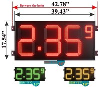 "14"" factory direct IP65 Gas station led price sign"