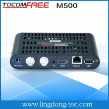 mini satellite receiver tv twin tuner tocomfree m500 hd iks sks free
