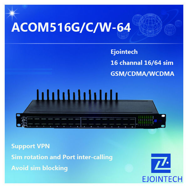 HOT SALE! Ejoin 16 ports gsm voip gateway , 16 channels 64 sim goip gateway with gateway nv53 motherboard