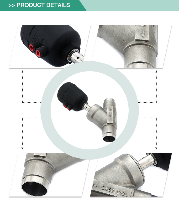 hot selling soft seal good quality weld angle seat valve types of pneumatic valves