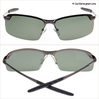 2015 Men Polarized Fashion Sunglasses 3043 men Gun frame green lens