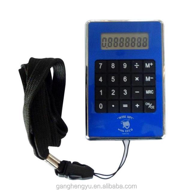 Promotional Gift Protable 8 digits Electronic Lanyard Calculator