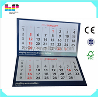2017 daily calendar hardcover glossary coated paper calendar printing
