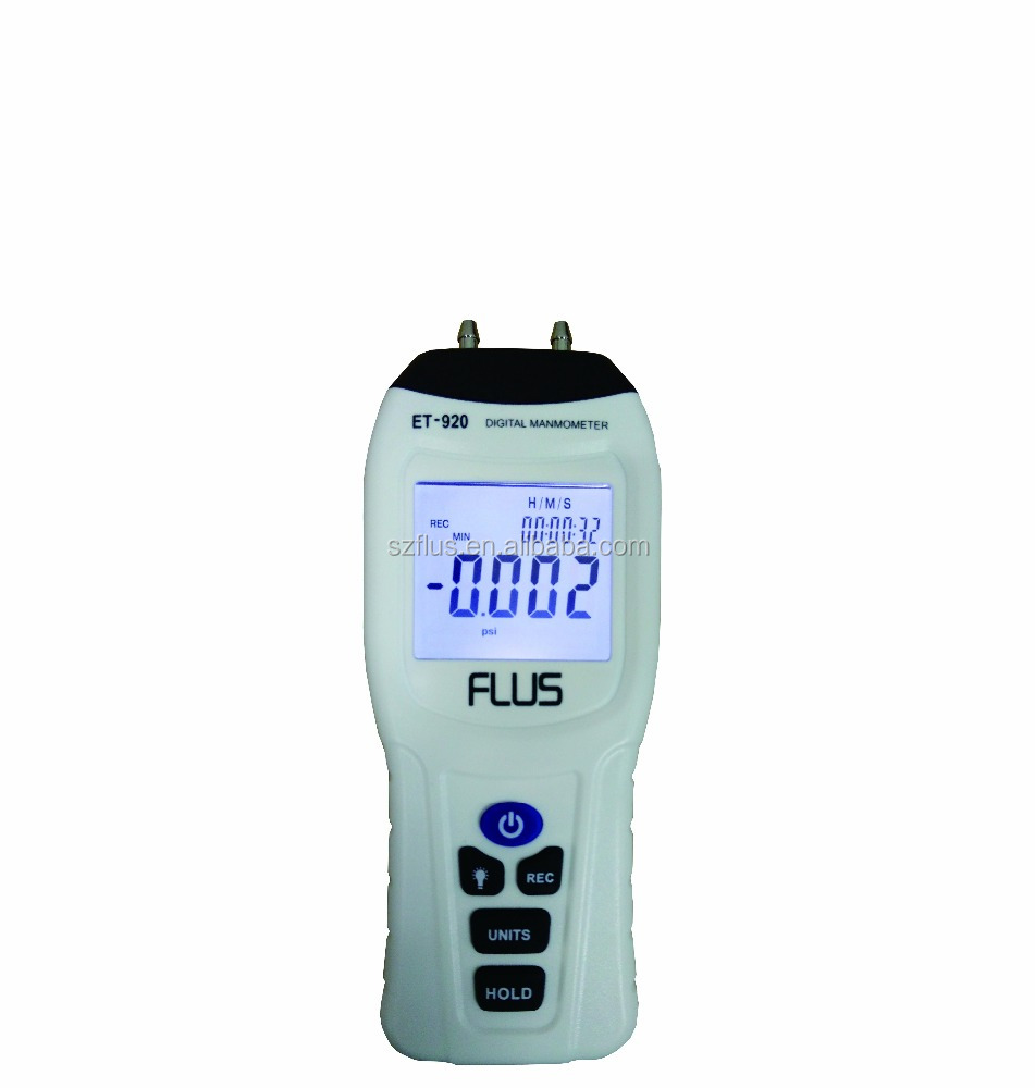 high quality pressure gauge manometer with dual channel