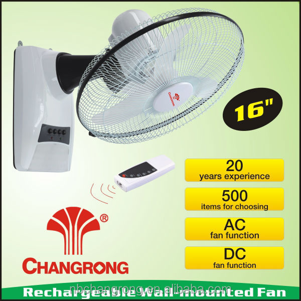 "<strong>16</strong>"" wall mounted rechargeable fan with remote plastic hand fan stand fan"