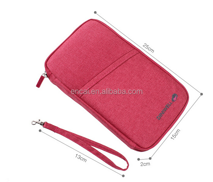 Encai New Design Folder Travel Passport Bags For Ticket & Cards Holder High Quality Passport Wallet With Handle