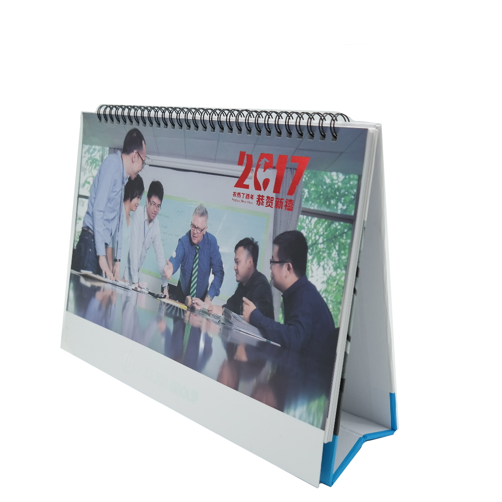 Wholesale office necessary decorative art paper sprial table desk calendar  2019