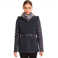 Professional Manufacture Cheap Hooded Quilted Jacket Women