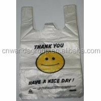 HDPE Recycle or Virgin Material Plastic T Shirt Shopping foldable shopping bag Bag