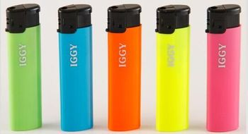 Refillable electronic lighter with print your LOGO on the lighter body