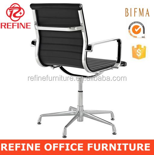 Negro moderno de cuero executive sillas giratorias de - Silla oficina sin ruedas ...