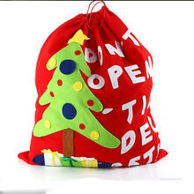 Santa Claus Kids candy Handbag Pouch Wedding Sack Present Decoration Cute Santa Christmas Gift Bag