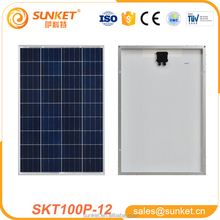 full certified china supplier high efficiency flexible solar panels 100w poly solar panel For Home Use