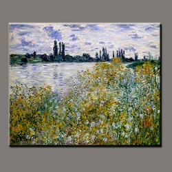 BC13-9513 Handmade Claude monet impressionist oil painting, Garden in Flower