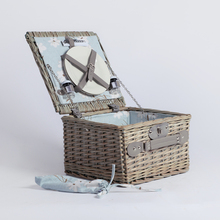 Europe style wicker storage gift 2 person picnic basket