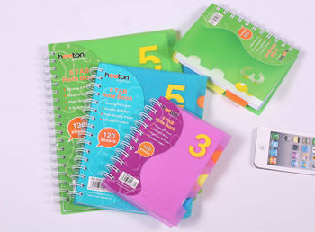 PP spiral notebook office stationery