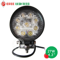 Top quality 10-30V IP67 new 27w car led tuning light/led work light