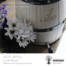 HONGDAO wooden barrel cooler for bar with cup in dubai and malaysia