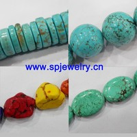 loose turquoise stones, round 4-20mm, many shapes for choice, 16-inch per strand