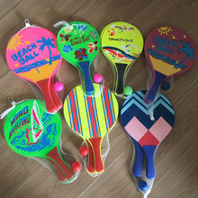 High Quality Neon Color Fluorescent Beach Paddle Promotional Paddle Set Beach Game