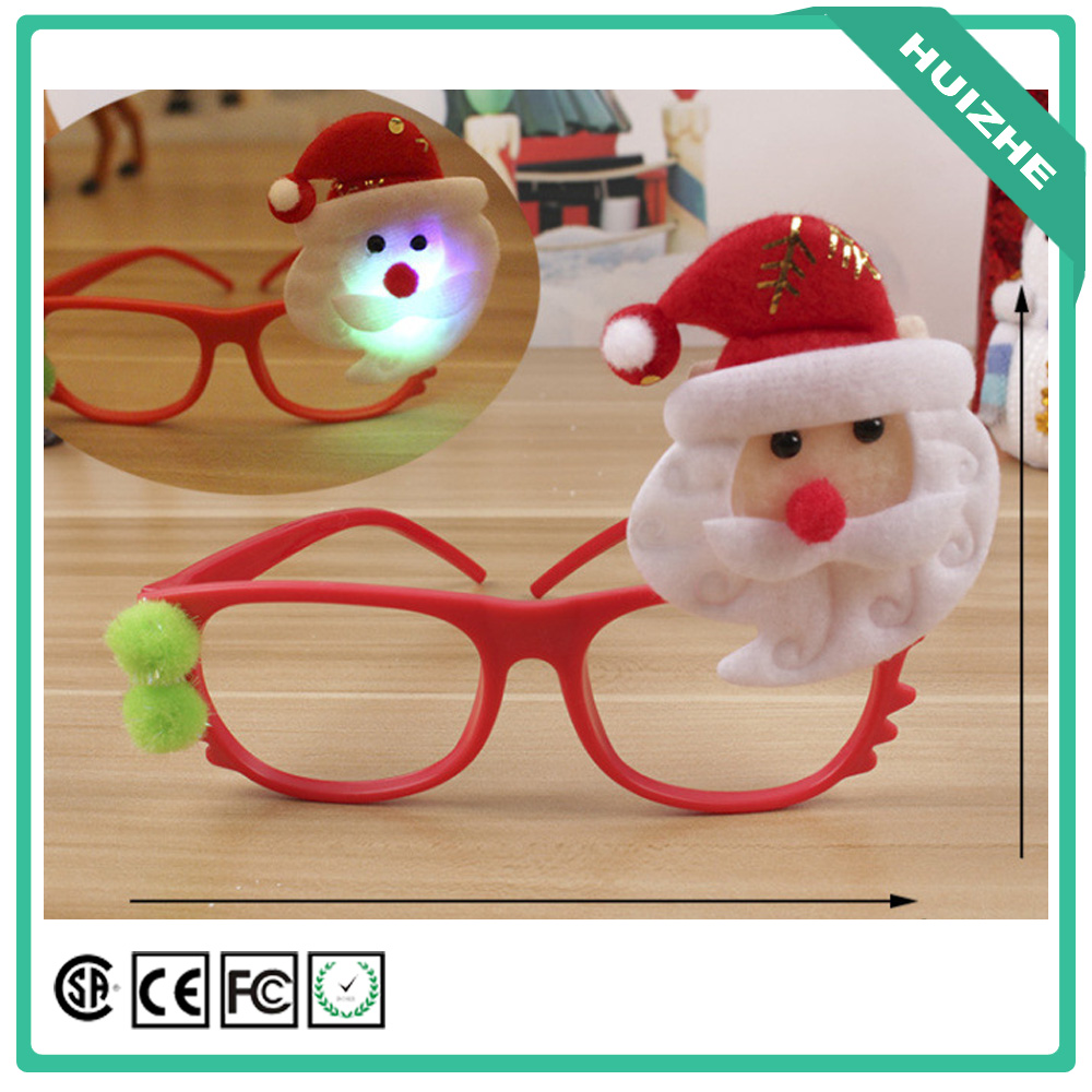 Children Favor Christmas Glow Led Glasses And New Christmas Promotional Items