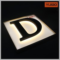 Corporate sign 3d channel letter acrylic backlighted led signage