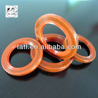 Red silicone TC double lip oil seal with SS304 spring for machine