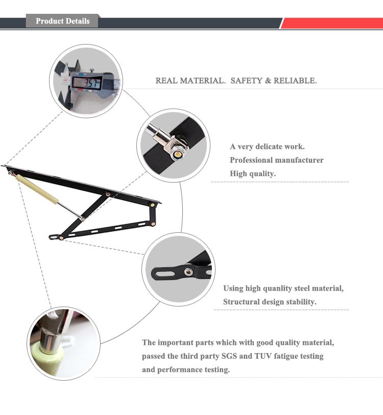 Technische Zeichnung Bett locking bett scharnier halterung klappbett hardware scharnier
