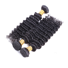 Wet And Wavy Weave Top Quality Brazilian Virgin Hair Deep Wave 3 Bundles Brazilian Human Hair