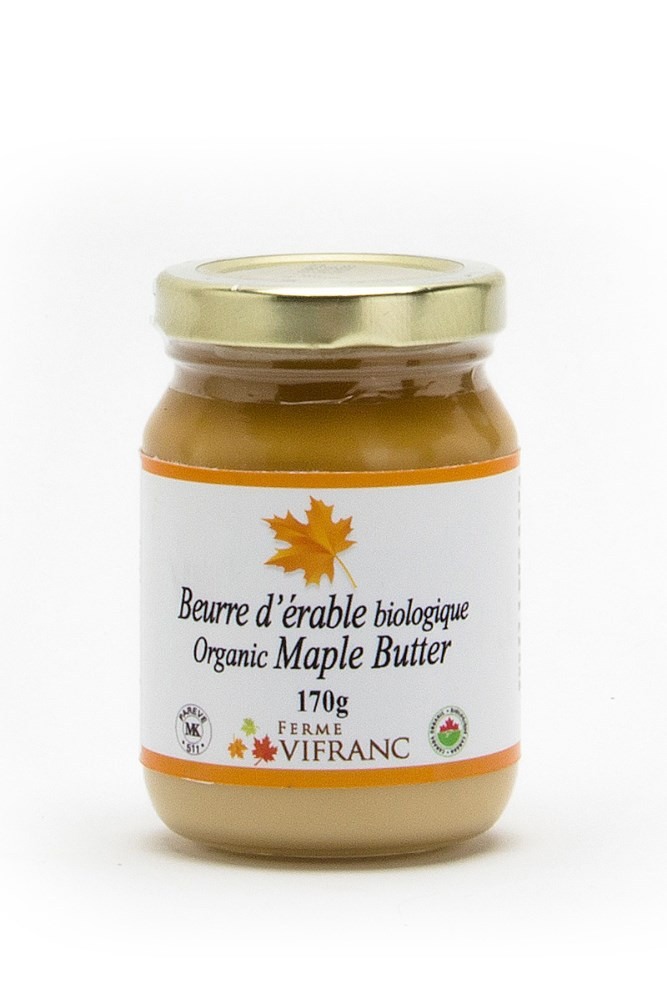 Organic Maple Butter, glass jar, 170g,