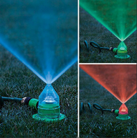 Colour changing watering spray irrigation lawn LED sprinkler