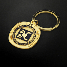 Custom metal coin keychain remarkable 3d cutout keychains China