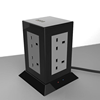 4 USB port Tower Socket with 8 outlet without surge protection