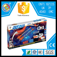 high quality space toy shooting gun kids bow and arrow toy