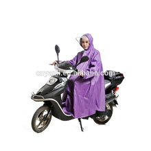 China high quality foldable pu coated nylon waterproof motorcycle raincoat