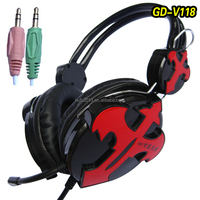 GD-118 worldwide free samples white and blue pilot headset computer headphone