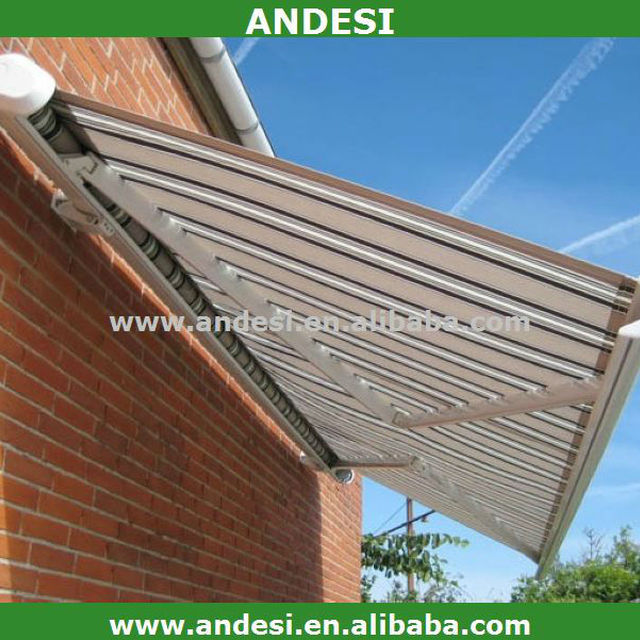 waterproof motorized full cassette retractable awnings