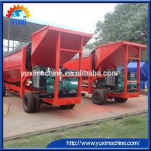 YUXI Portable stationary compost alluvial river gold trommel screen for sale for organic fertilizer placer gold mining equipment