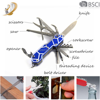 Multi-function Swiss Style Army Pocket Knife Including Outdoor Rescue Survival